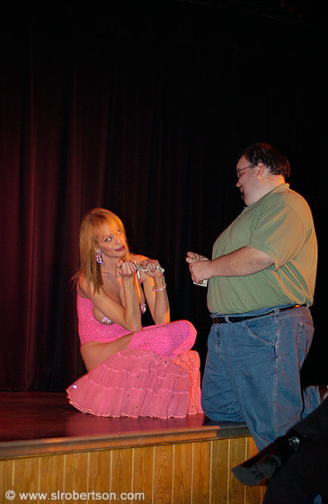 Pink Drag Queen and Admirer 1