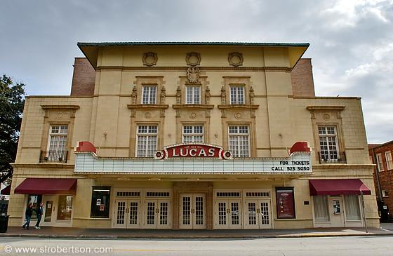 photo of front facade of lucas theater savannah scott l