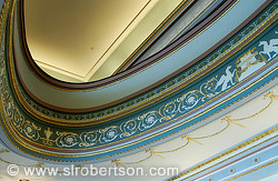 Detail of plaster moldings in lobby of Lucas Theater, Savannah