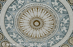 Detail of ceiling rosette in Lucas Theater, Savannah