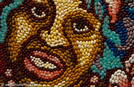 Jellybean mosaic at Red Gallery, SCAD, Savannah